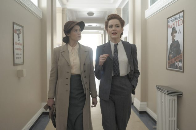Gemma Arterton (left) and Rachael Stirling in Their Finest.