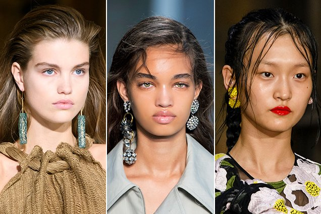 Statement earrings on the Spring 2017 runways.