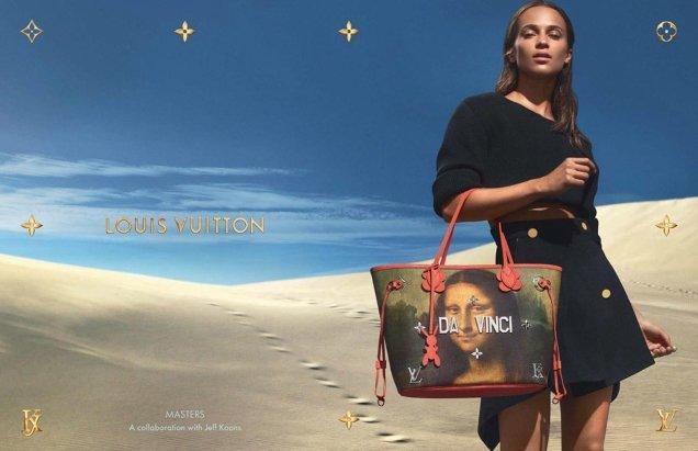 Louis Vuitton x Jeff Koons Handbags 2017 : Alicia Vikander by Mert & Marcus