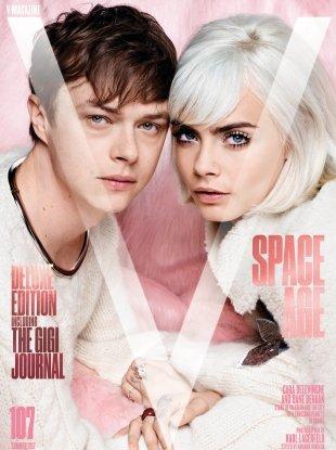 V #107 Summer 2017 : Cara Delevingne & Dane DeHaan by Karl Lagerfeld