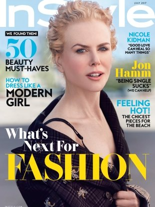 US InStyle July 2017 : Nicole Kidman by Will Davidson