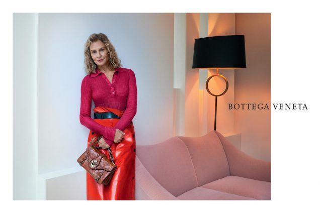 Lauren Hutton for Bottega Veneta Spring 2017.