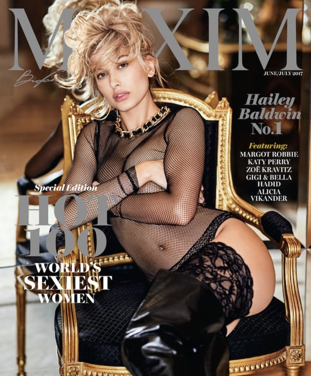 Maxim June/July 2017 : Hailey Baldwin by Gilles Bensimon