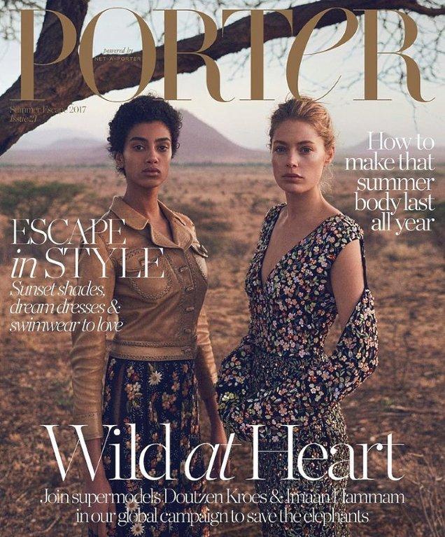 Porter #21 Summer Escape 2017 : Doutzen Kroes & Imaan Hammam