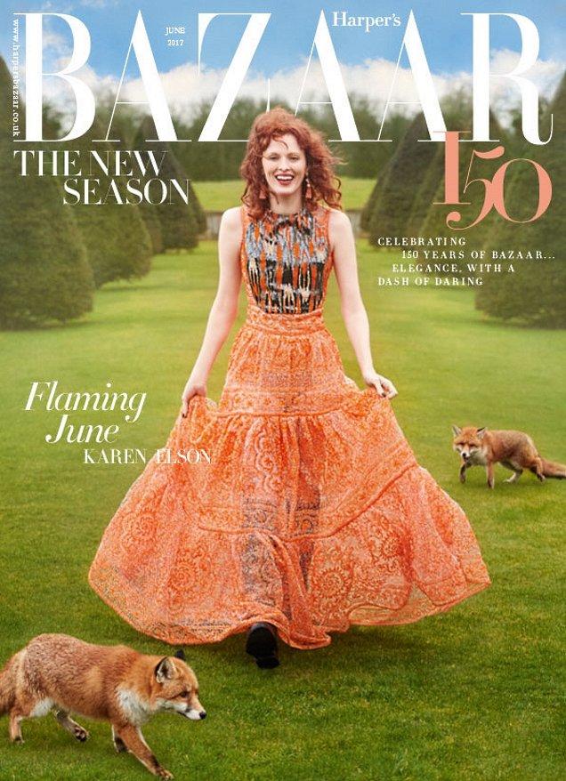 UK Harper's Bazaar June 2017 : Karen Elson by Richard Phibbs