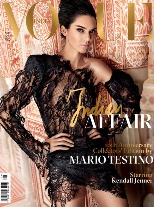 Vogue India May 2017 : Kendall Jenner by Mario Testino