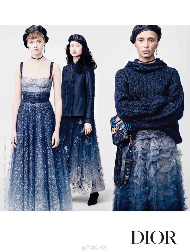Christian Dior F/W 2017.18 : Adwoa Aboah, Ruth Bell & Jing Wen