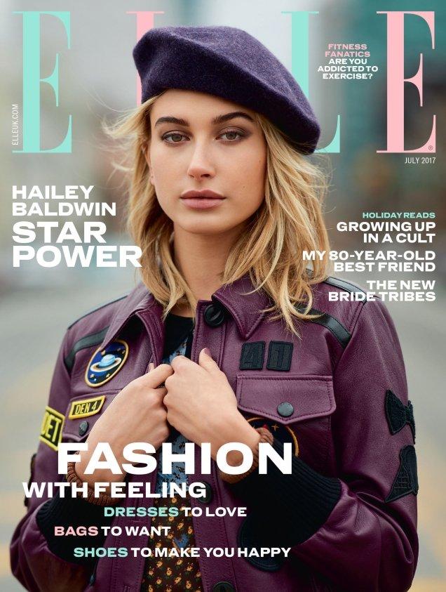 UK Elle July 2017 : Hailey Baldwin by Gilles Bensimon