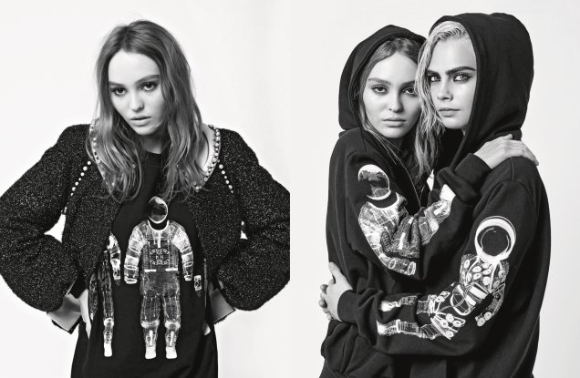 Chanel F/W 2017.18 : Cara Delevingne & Lily-Rose Depp by Karl Lagerfeld