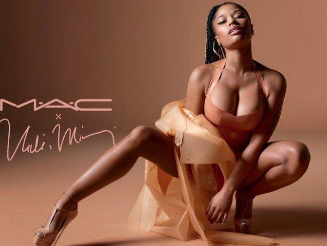 Nicki Minaj MAC ad campaign.