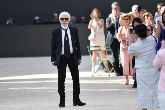 Karl Lagerfeld at the Chanel Haute Couture Fall 2017 show.