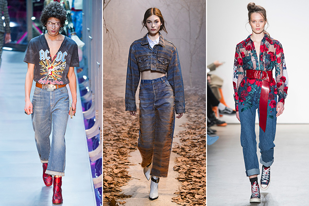Mom jeans on the Fall 2017 runways.