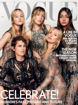 UK Vogue September 2017 : Kate, Stella, Edie, Jean & Nora by Mario Testino