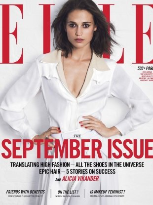 US Elle September 2017 : Alicia Vikander by David Bellemere