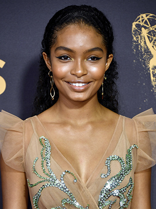 """Black-ish"" actress Yara Shahidi at the 2017 Emmys."