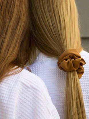 Scrunchies the Mansur Gavriel way.