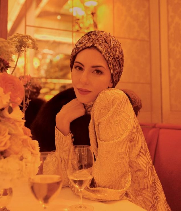 Sofia Coppola for WSJ Magazine wearing a turban June/July 2017.