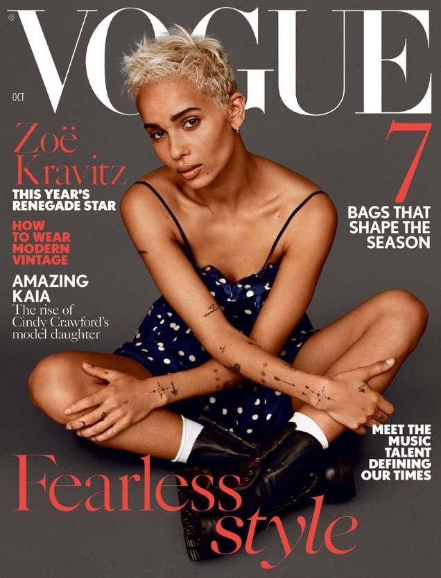 UK Vogue October 2017 : Zoe Kravitz by Alasdair McLellan