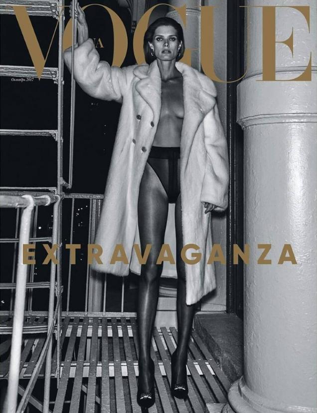 Vogue Ukraine October 2017 : Malgosia Bela by Chris Colls