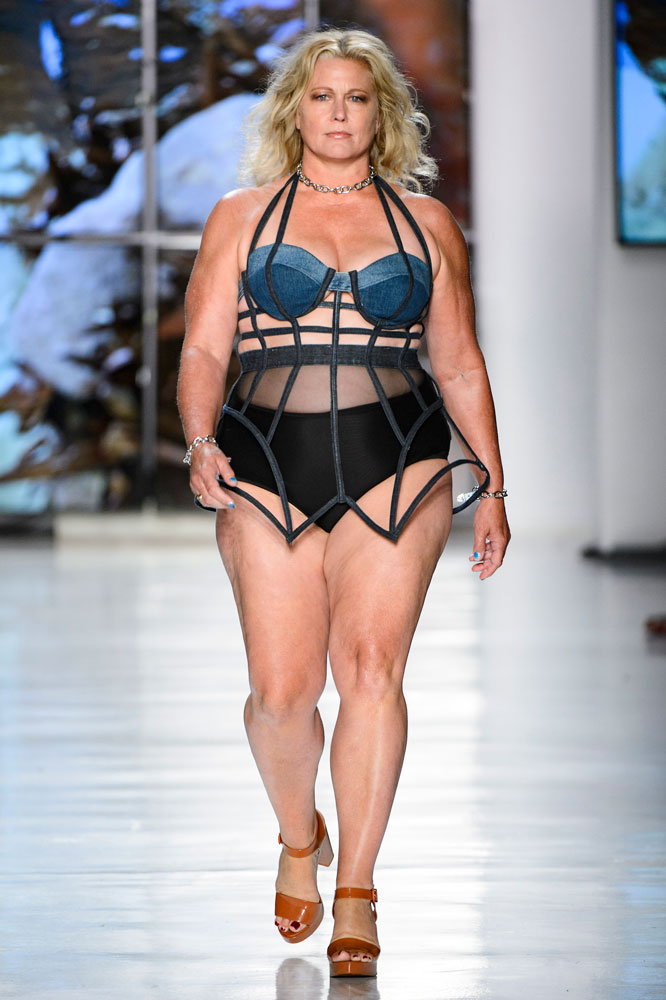 Plus-size supermodel Emme at Chromat Spring 2018.