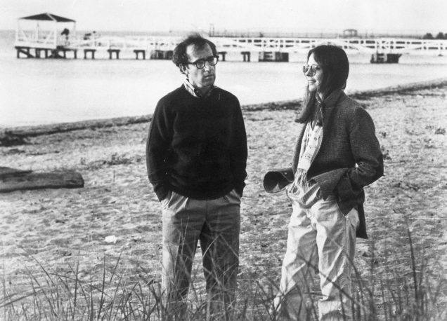 "Woody Allen and Diane Keaton on the set of ""Annie Hall."""