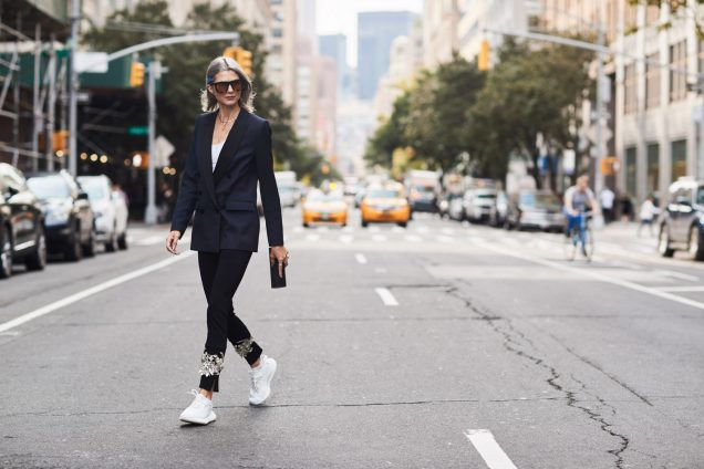 Stylish sneakers street style
