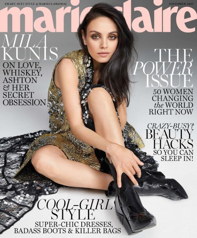 US Marie Claire November 2017 : Mila Kunis by Kai Z Feng