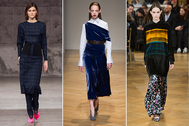 Velvet clothing on the Fall 2017 runways.