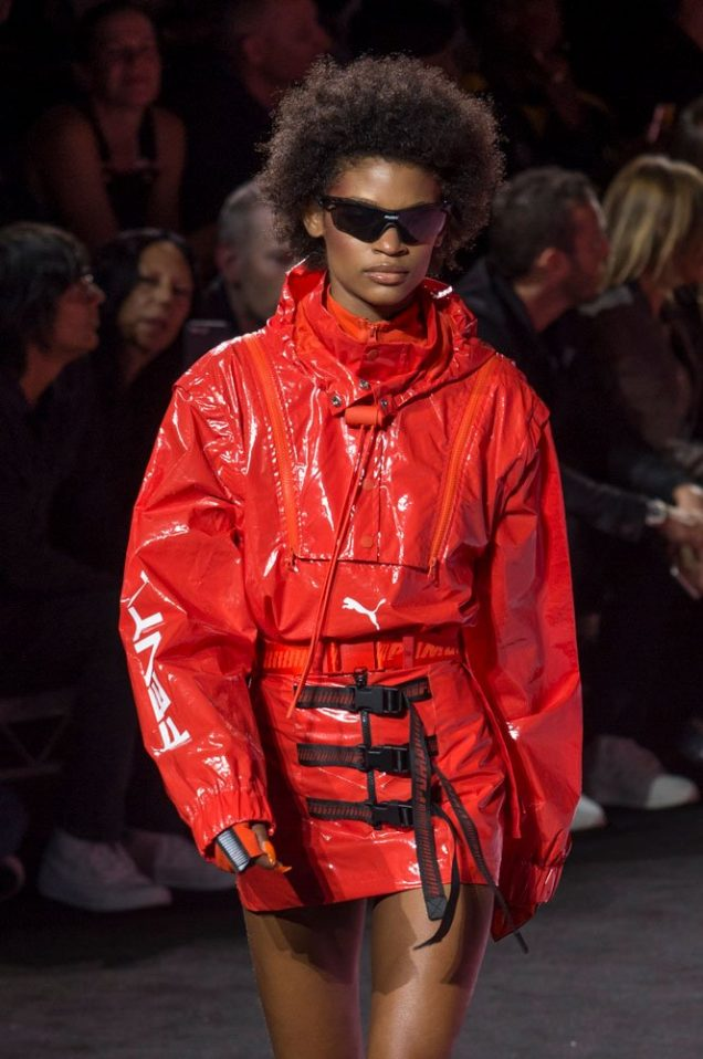 An elevated anorak look at Fenty x Puma Spring 2018.