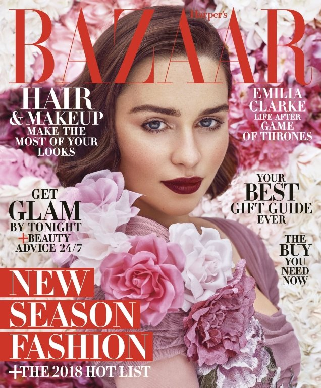 US Harper's Bazaar December 2017/January 2018 : Emilia Clarke by Mariano Vivanco