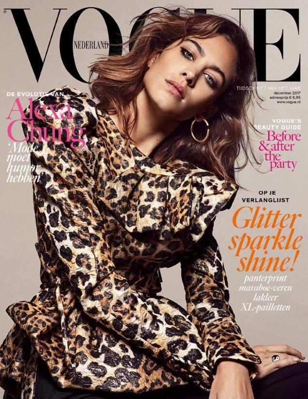 Vogue Netherlands December 2017 : Alexa Chung by Marc de Groot