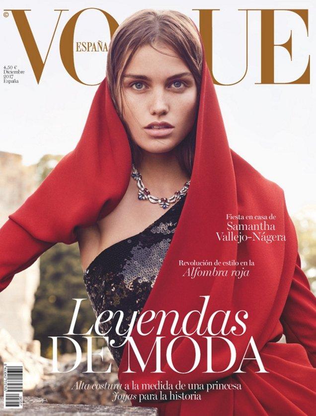 Vogue España December 2017 : Luna Bijl by Nathaniel Goldberg