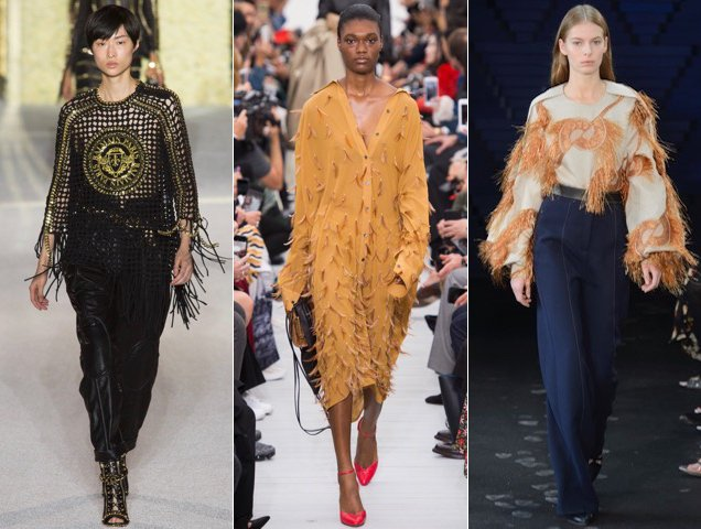 Fringe also found its way onto the Spring 2018 catwalks. Balmain Spring 2018, Celine Spring 2018, Roksanda Spring 2018