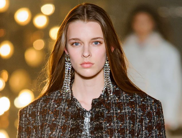 shoulder duster earrings Isabel Marant Fall 2017