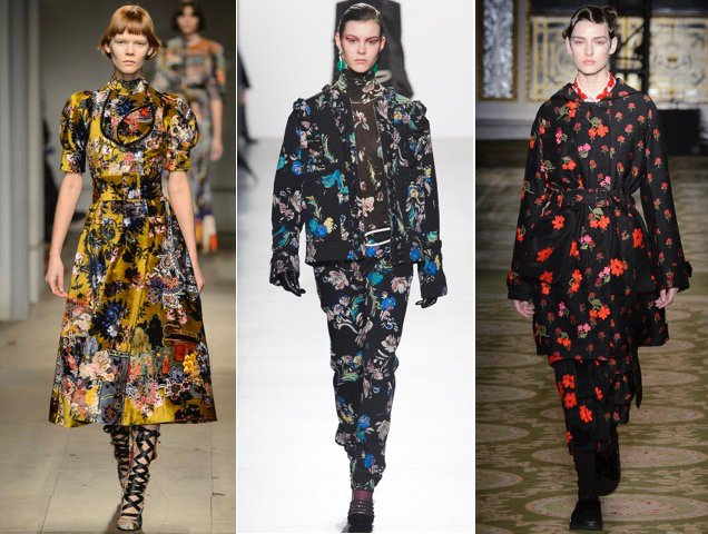 The Fall 2017 runways were blooming with winter florals.