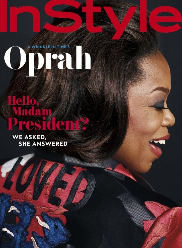 US InStyle March 2018 : Oprah Winfrey by Phil Poynter