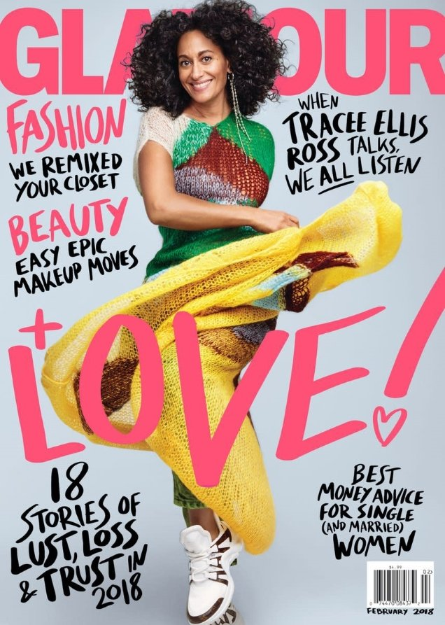 US Glamour February 2018 : Tracee Ellis Ross by Patrick Demarchelier