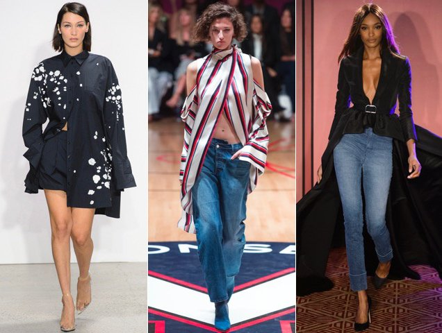 For Spring 2018, the longer your shirt, the better - as seen at Oscar de la Renta Spring 2018, Monse Spring 2018, Brandon Maxwell Spring 2018