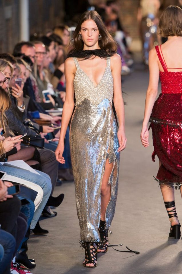 This season's Altuzarra catwalk featured several slit-to-there dresses.
