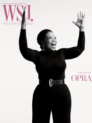 WSJ March 2018 : Oprah Winfrey by Mario Sorrenti