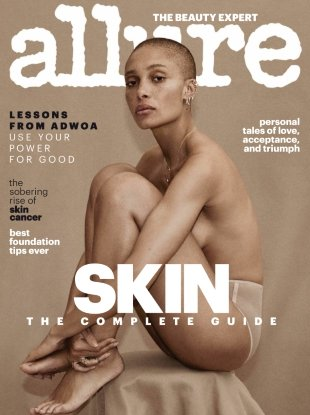 Allure April 2018 : Adwoa Aboah by Daniel Jackson