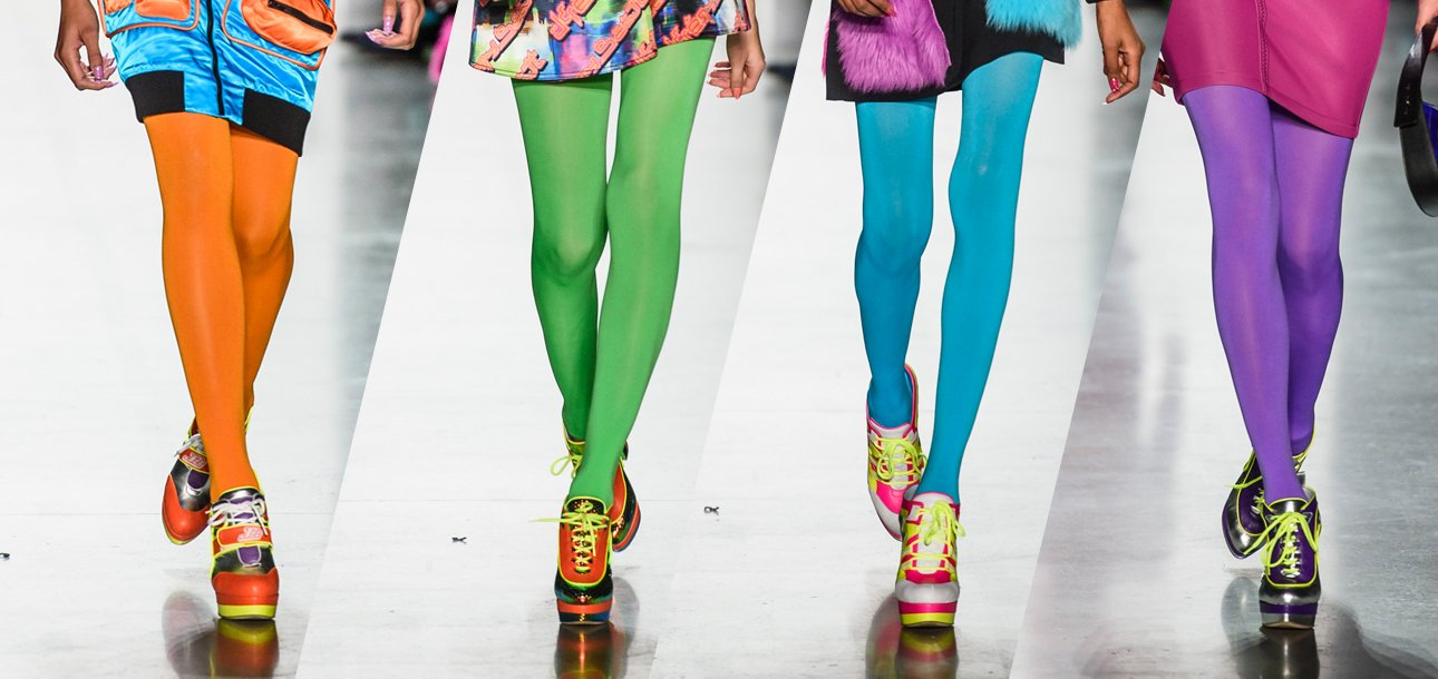 d4fcdae4c07c1 Colorful Tights for Women: The Fall 2018 Trend to Wear Now - theFashionSpot