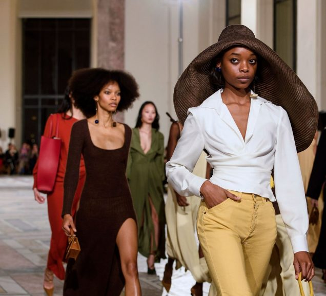 Models on the runway at Jacquemus' Morrocco-inspired Fall 2018 show.