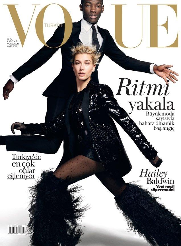 Vogue Turkey March 2018 : Hailey Baldwin & Valentine Rontez by Liz Collins