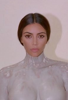 Kim Kardashian Promotes Her New Perfume in the Most Kim Kardashian Way: Nude and Covered in Clay