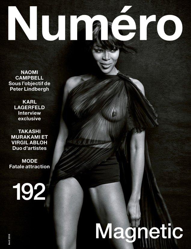 Numéro #192 April 2018 : Naomi Campbell by Peter Lindbergh