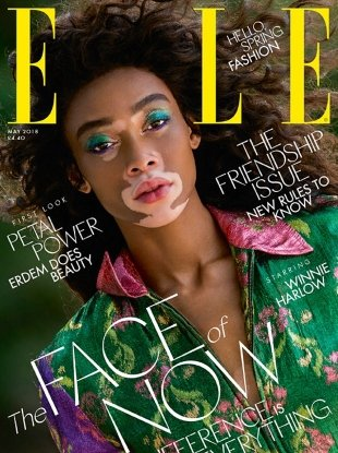 UK Elle May 2018 : Winnie Harlow by Gilles Bensimon