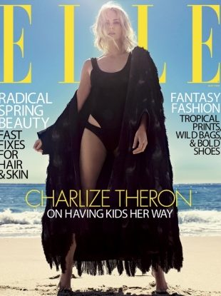 US Elle May 2018 : Charlize Theron by Mario Sorrenti