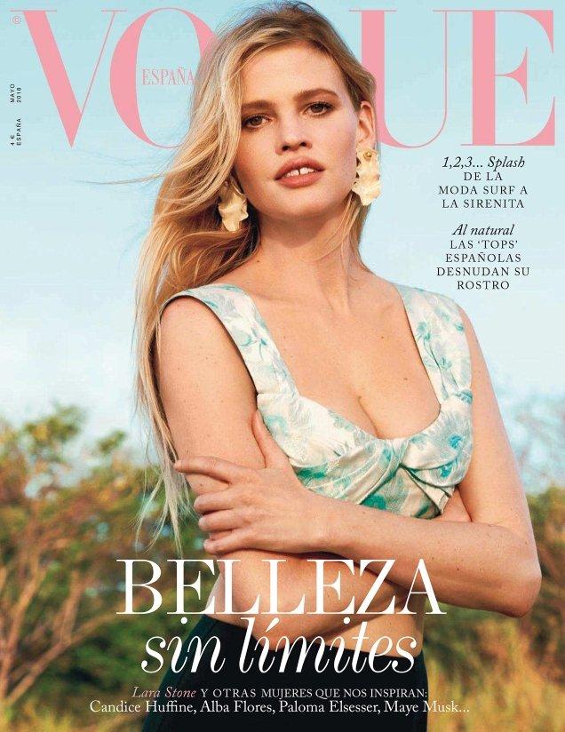 Vogue España May 2018 : Lara Stone by Bjorn Iooss
