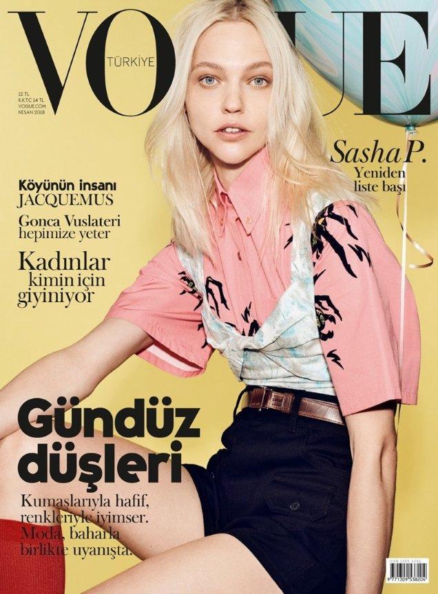 Vogue Turkey April 2018 : Sasha Pivovarova by Liz Collins